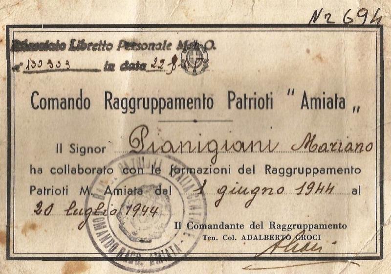 Libretto-personale-ufficiale-delladesione-di-Mariani-Pianigiani-al-Raggruppamento-Patrioti-Monte-Amiata