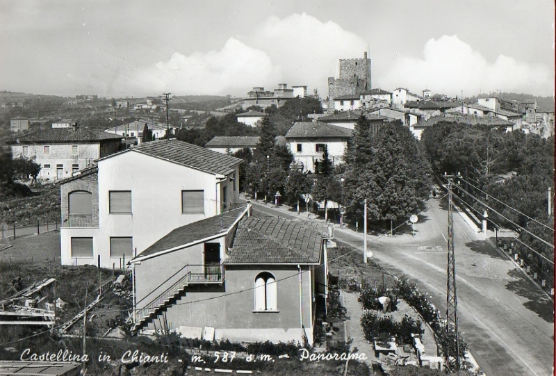 CASTELLINA IN CHIANTI-PANORAMA-anni70