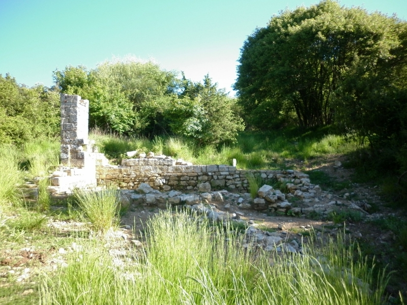 Ruderi dell'antico ospedale medievale di S. jacopo. Vista da Nord