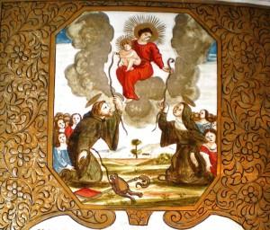 Miniatura raffigurante la Madonna della Cintola