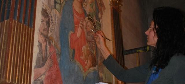 Restaurato l'affresco quattrocentesco della Madonna del Latte