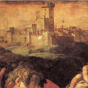 Abbattimento della Porta Senese di Castellina